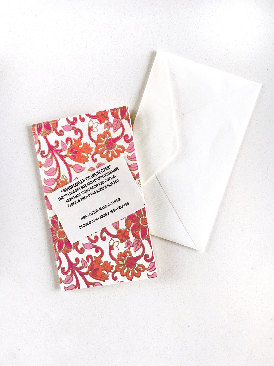 Anokhi Hand Block Print Card Windflower Box of 10