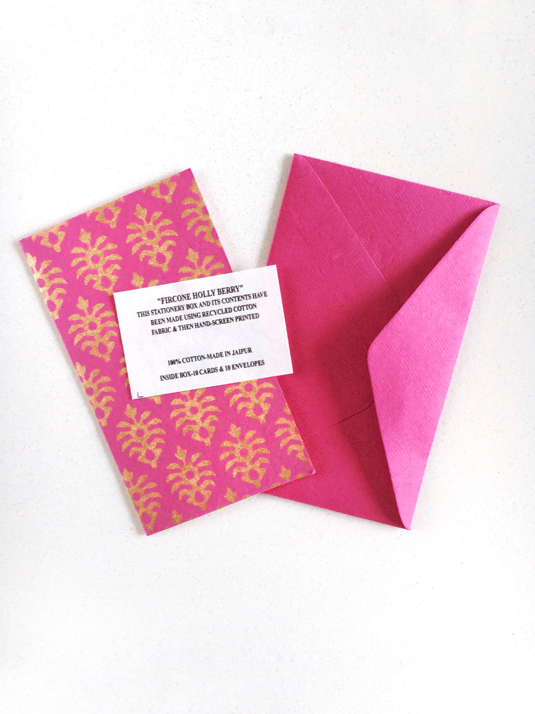 Anokhi Hand Block Print Cards Berry Box of 10