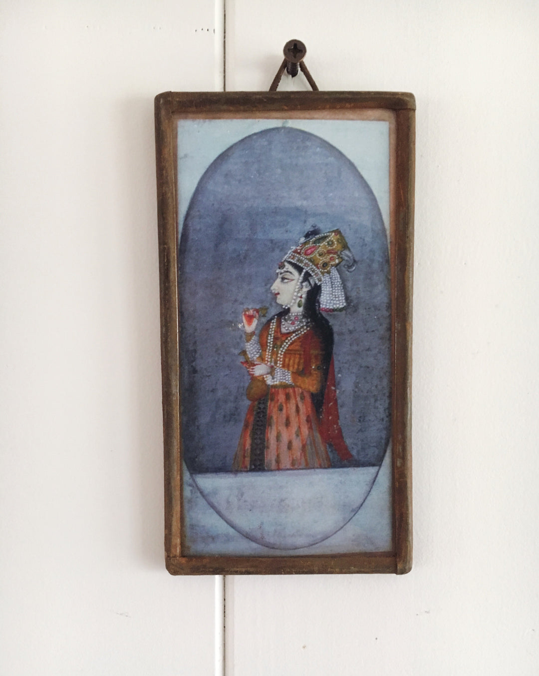 miniature framed print princess rajput
