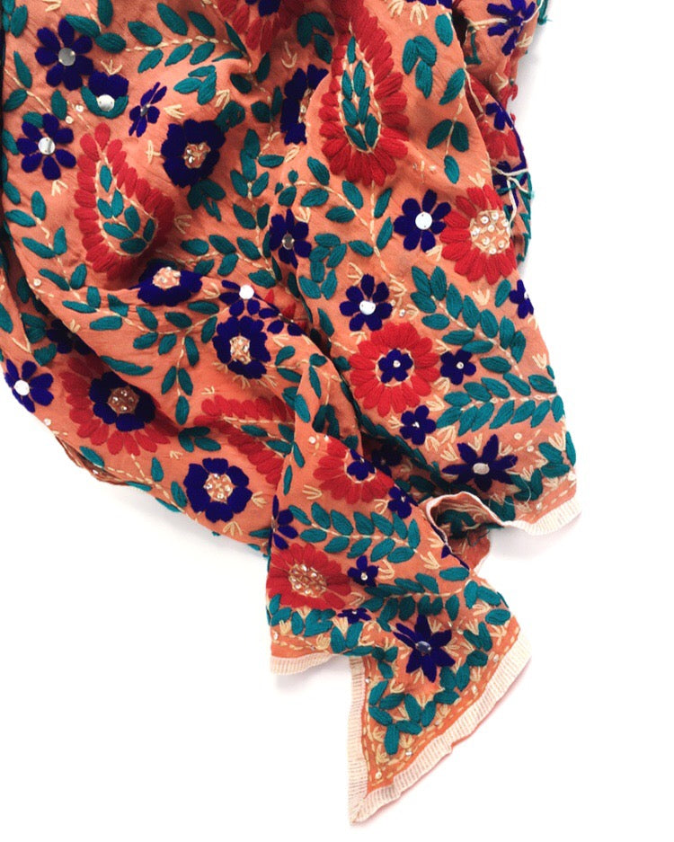 Holi embroidered punjab shawl