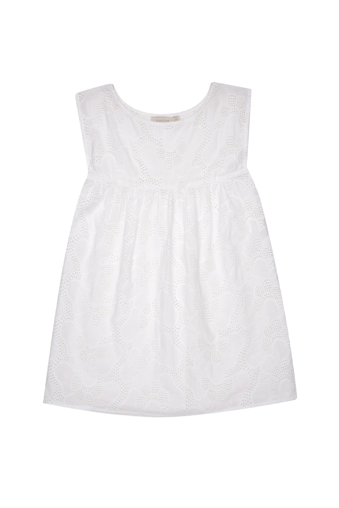 Broderie Anglaise Shell Top Chalk