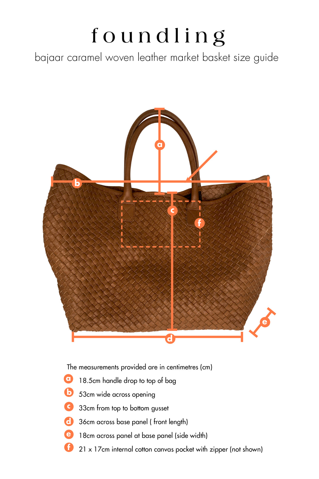 woven leather tote basket bag tan caramel size guide