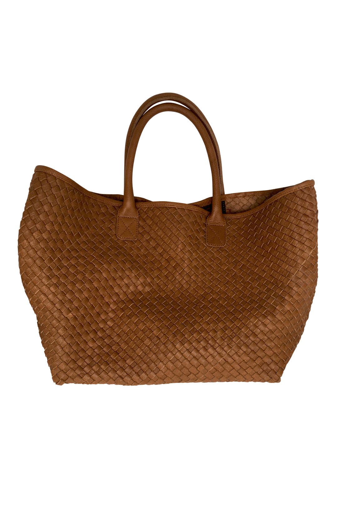 woven leather tote basket bag tan caramel