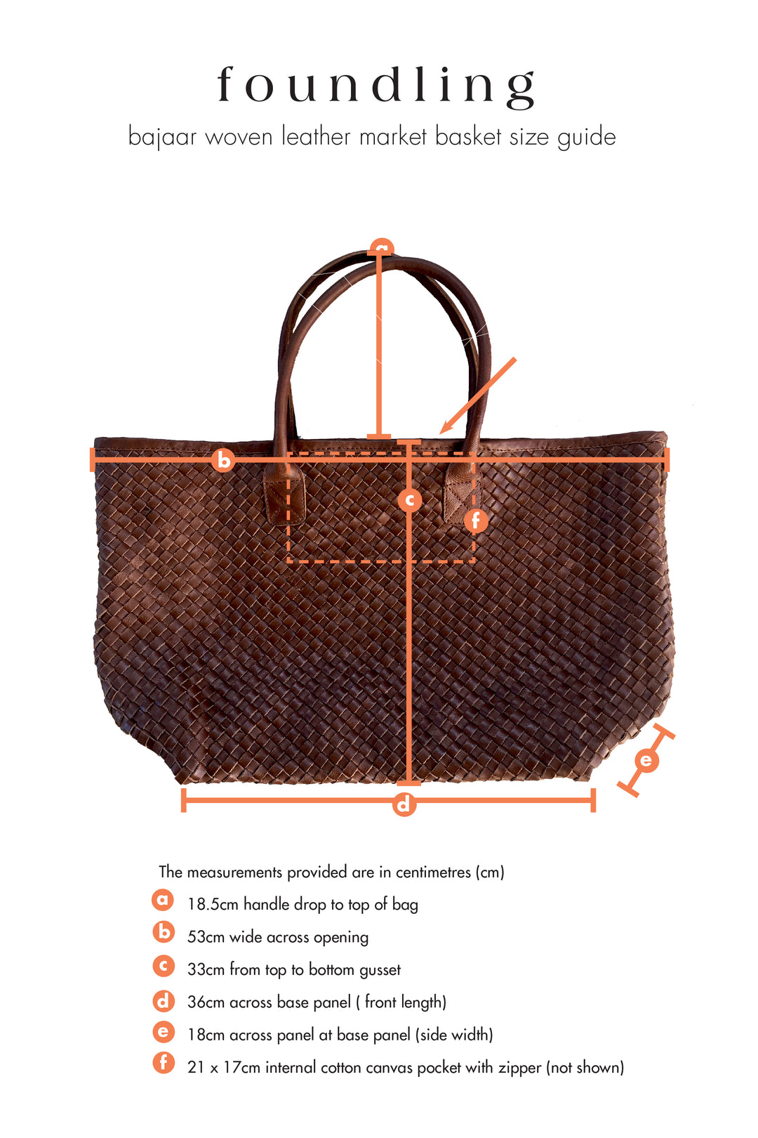 Bajaar woven leather market basket