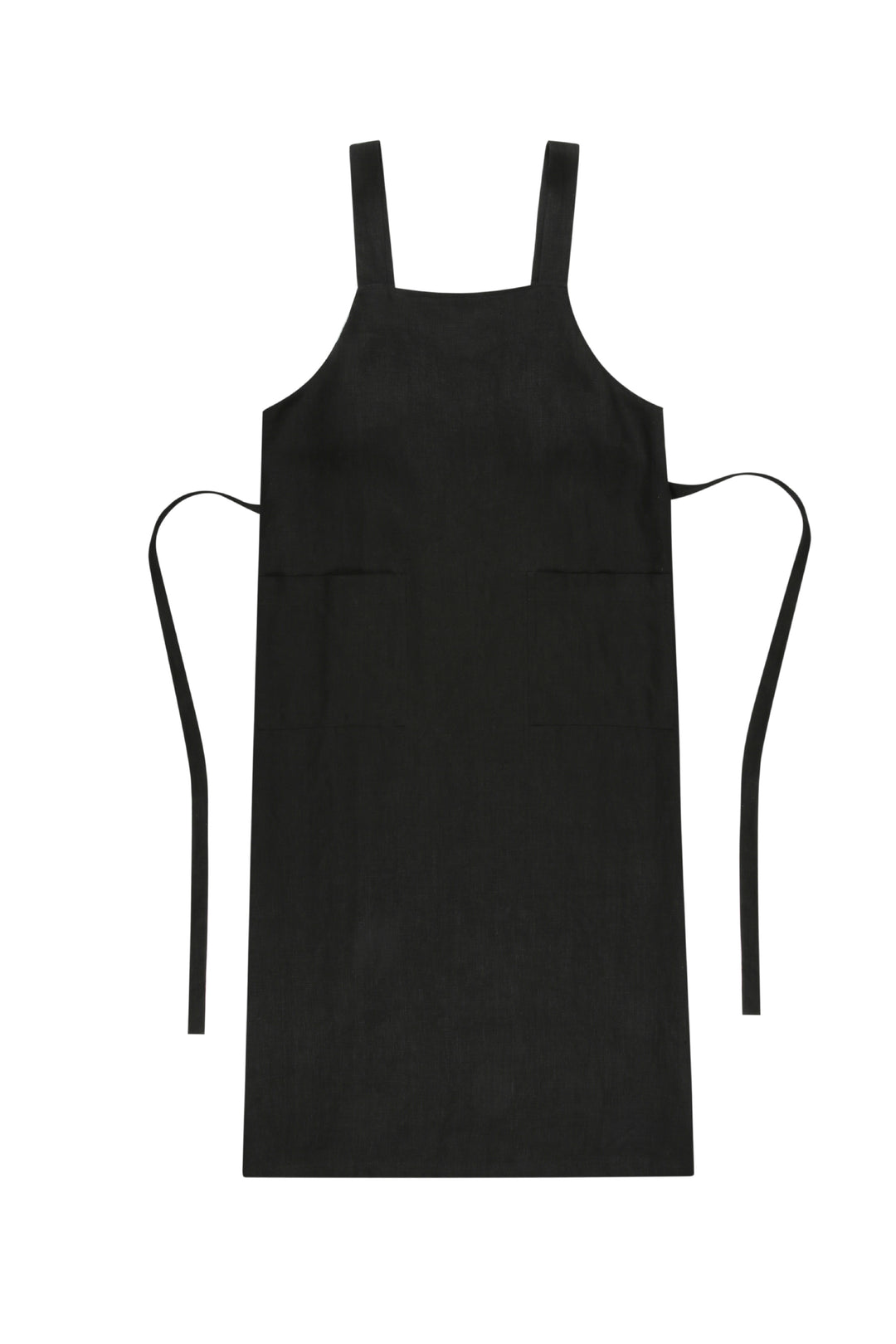 Raven Raw Flax Market Apron Dress