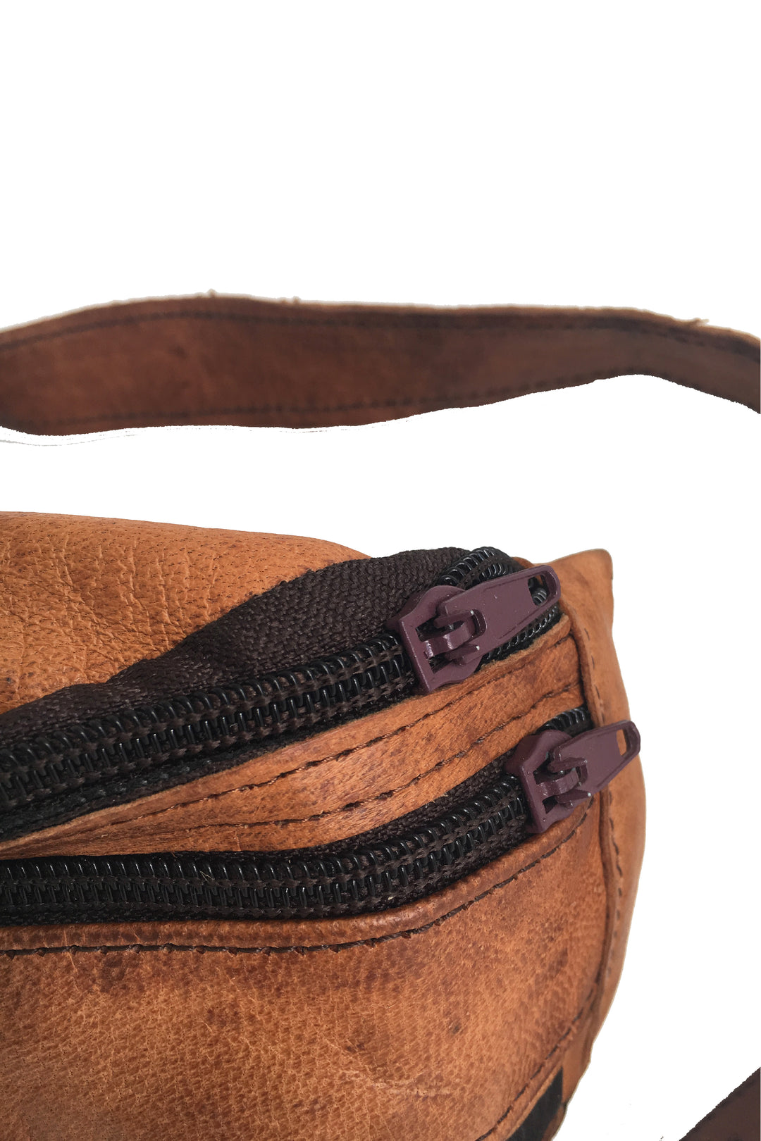 fez leather belt pack tan