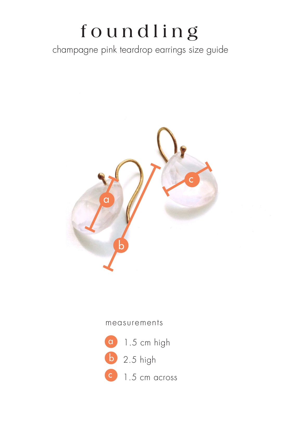 Champagne pink teardrop earrings