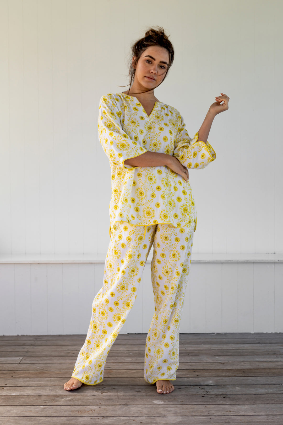 Roadside Daisies PJ Lounge Set NEW