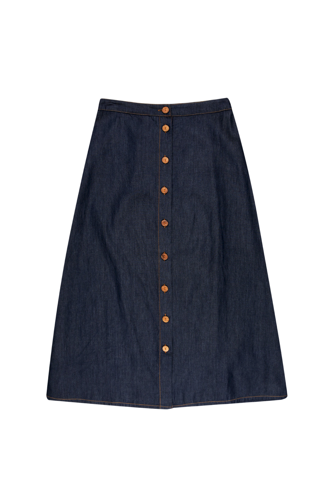 Denim Issue A Line Maxi Skirt