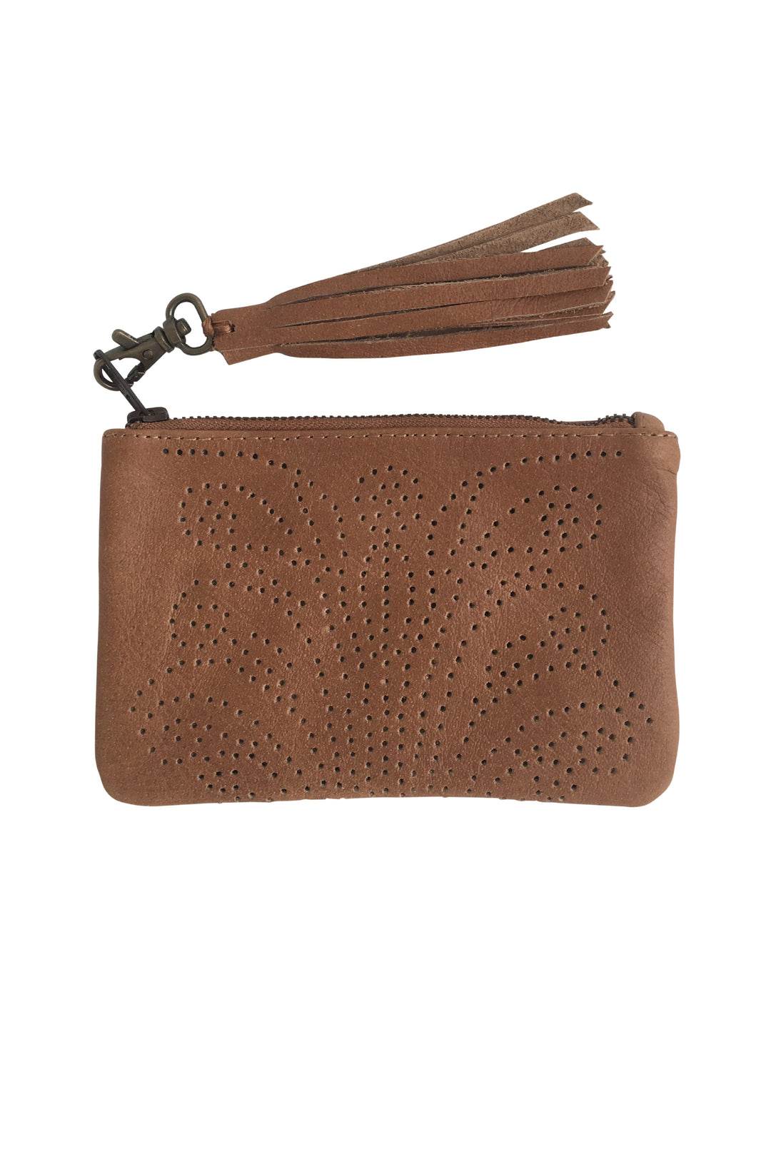 Sumitra tooled satchel desert stone