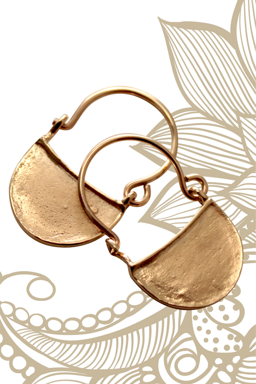 Byzantine earrings gold
