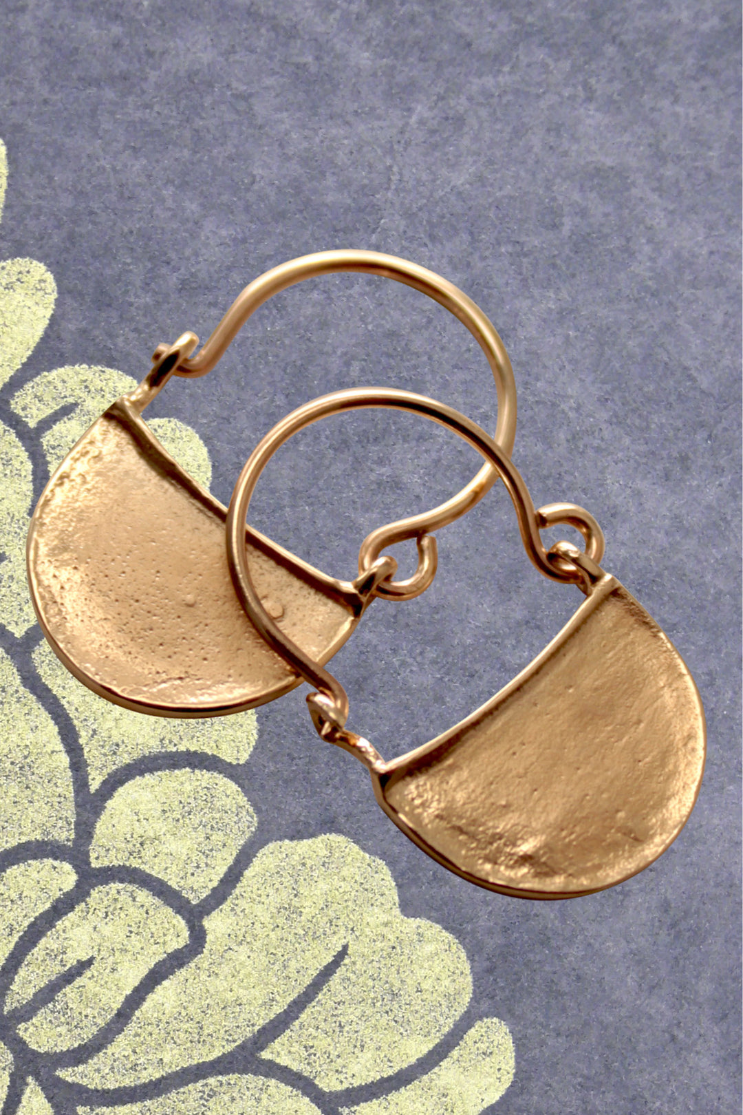 Byzantine slave earrings solid 9ct gold