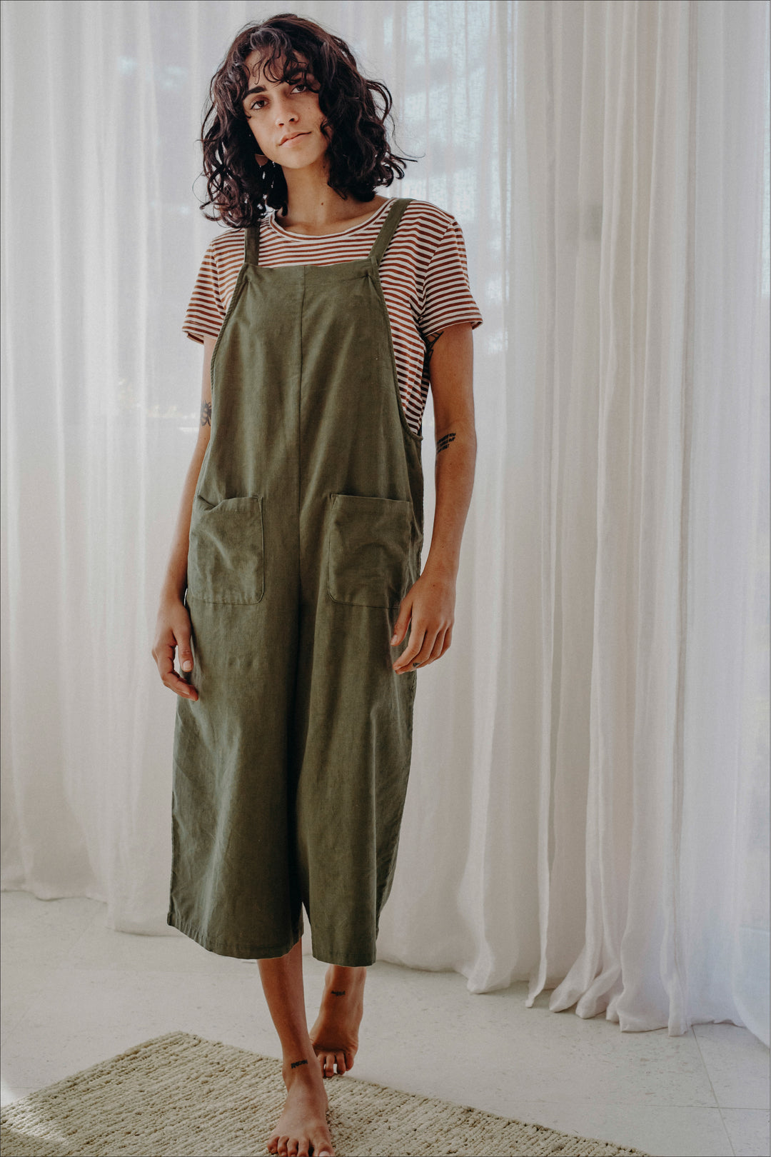 Regulation Pincord Jumpsuit Grass