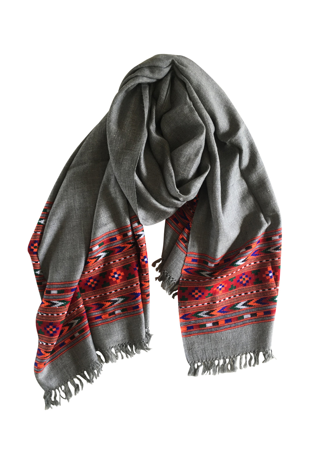yak wool embroidered shawl scarf