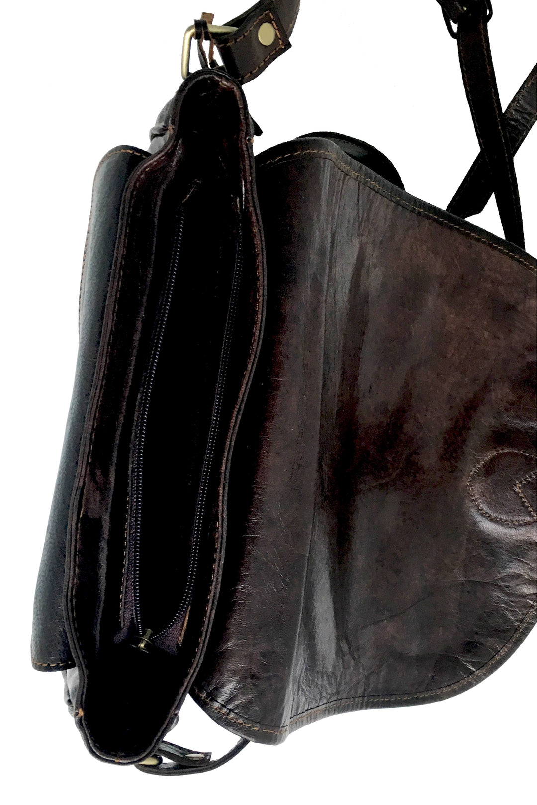 Leather saddle bag habash