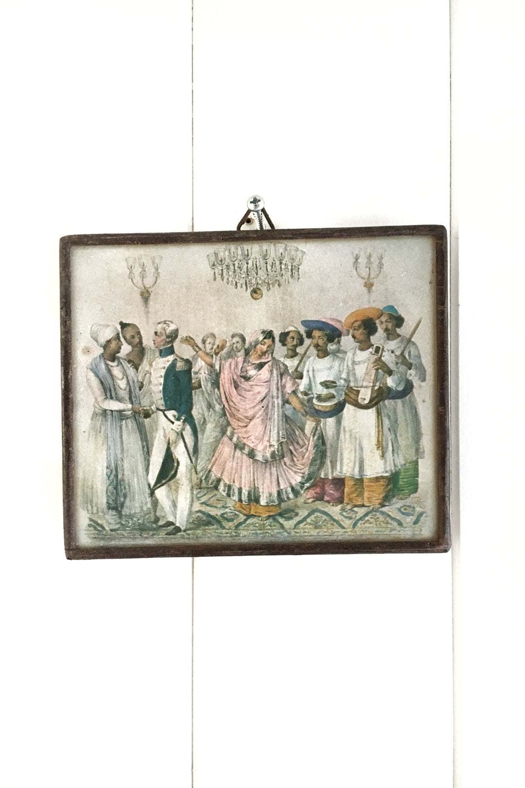 east india party framed miniature print