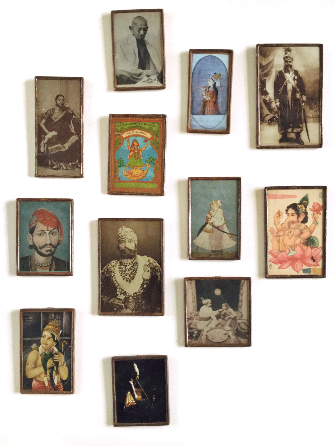 miniature framed print raj