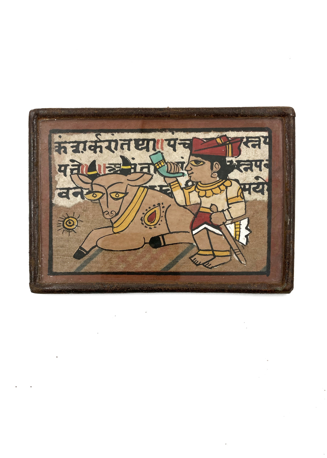 Pola framed miniature painting