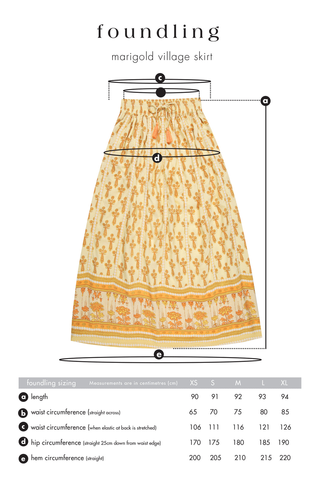 Marigold Village Skirt