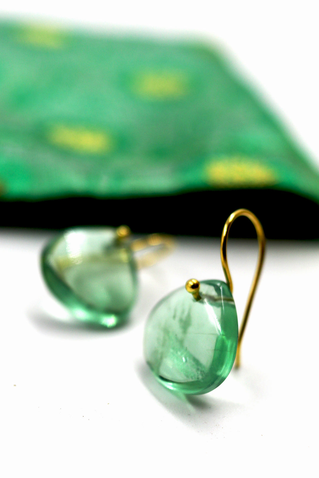 Mint Julep Quartz teardrops