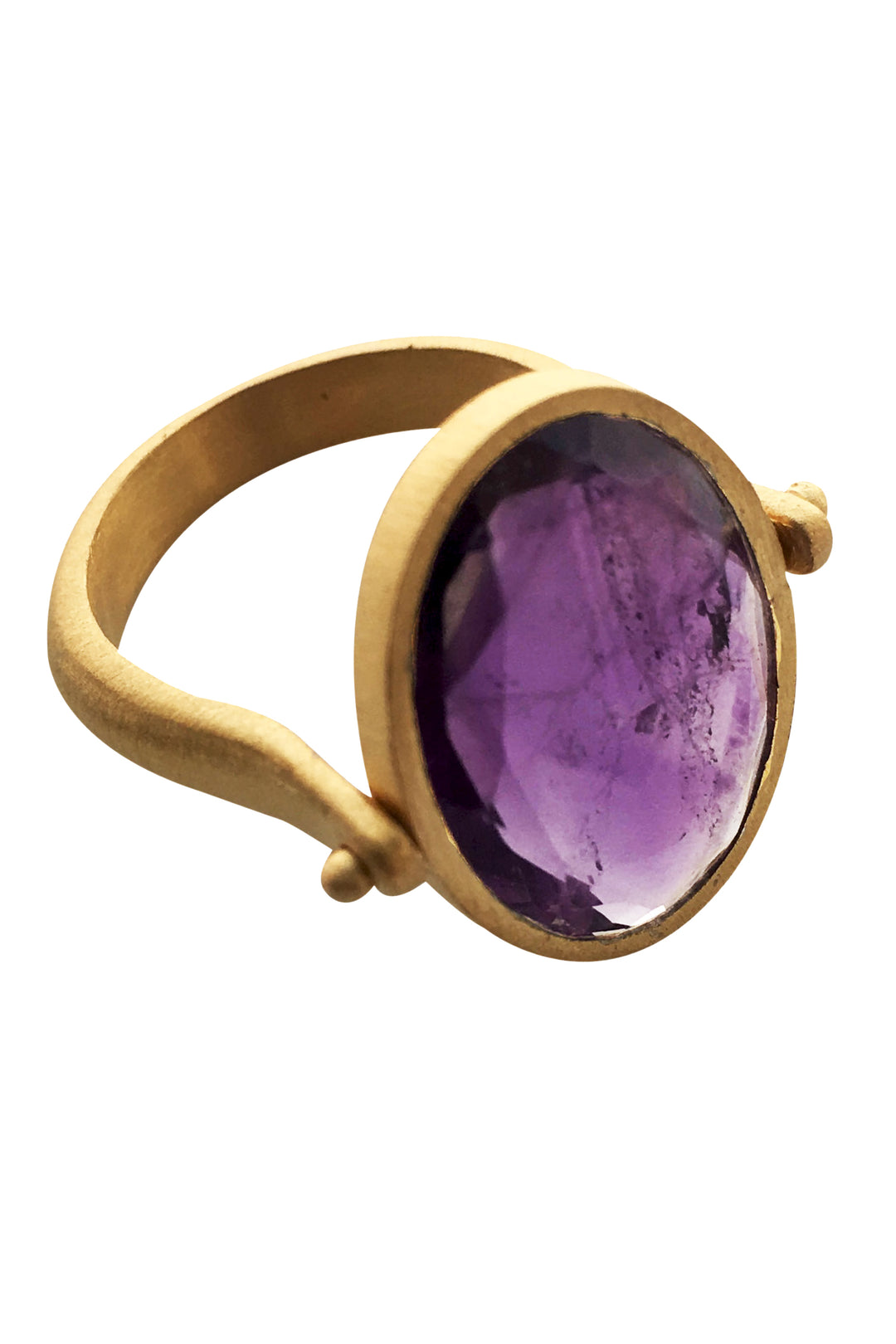 cocktail ring gold amethyst
