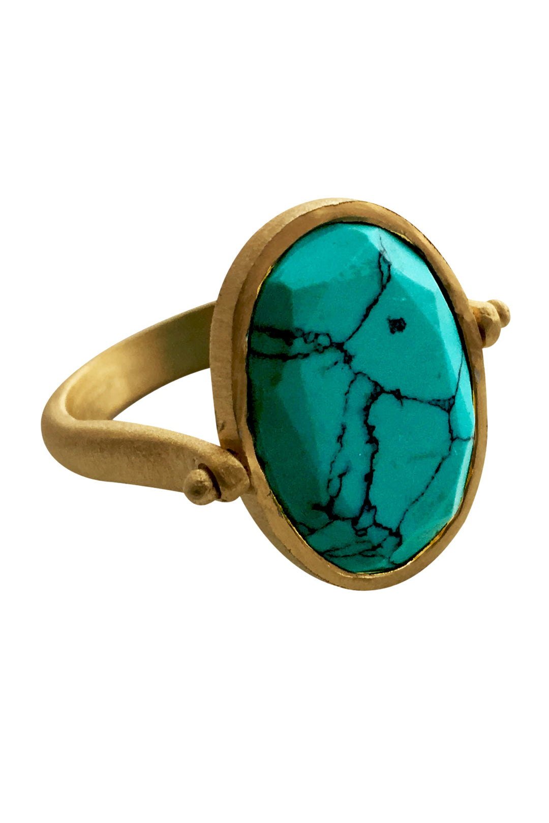 cocktail ring gold turquoise