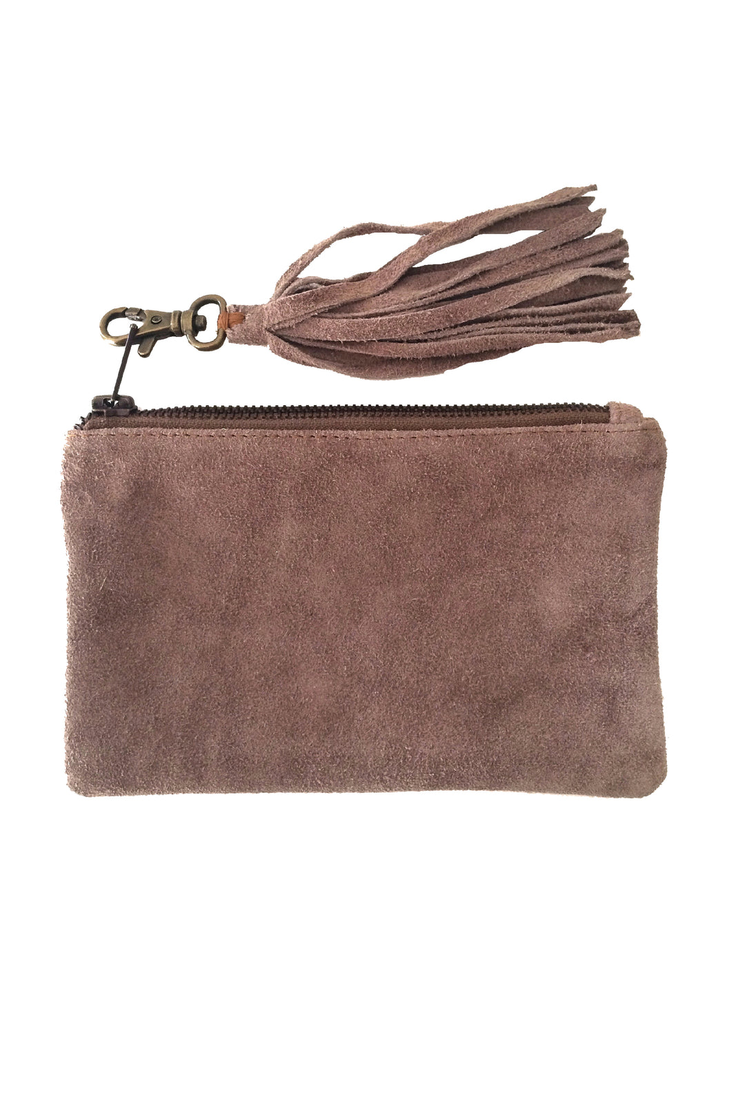 clearance: Suede Satchel pebble