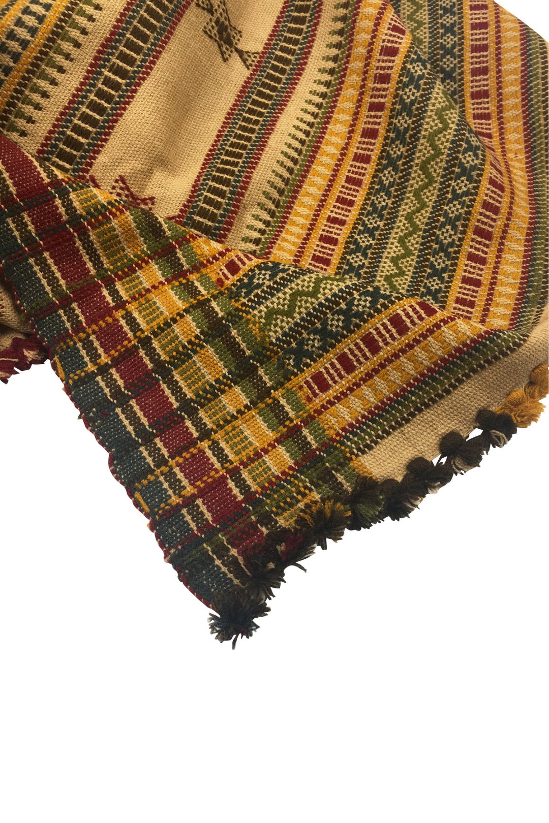 Kutch embroidered Wool Shawl Kofee