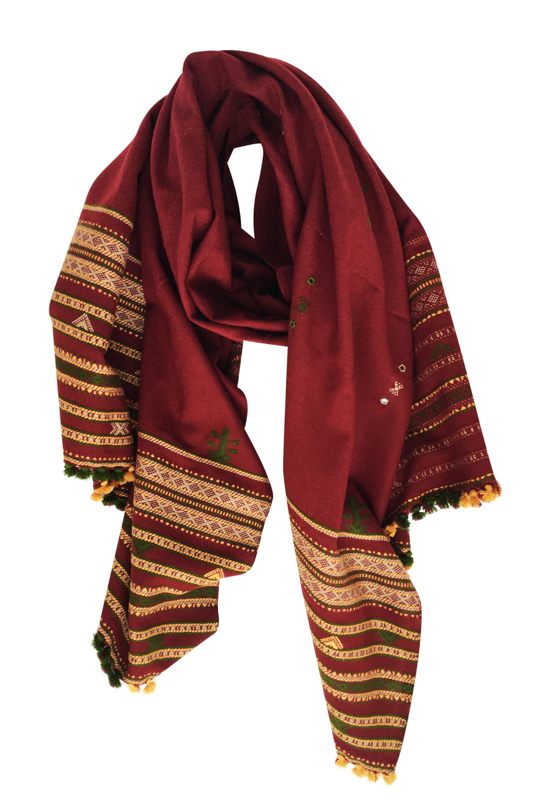 kutch embroidered oversized shawl vindaloo