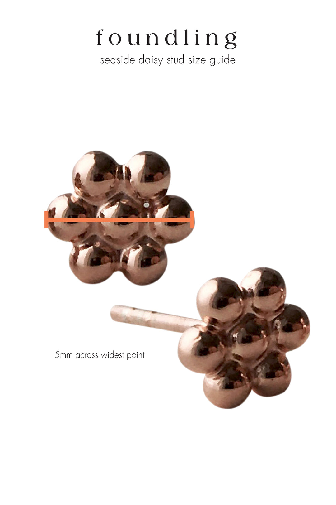 seaside daisy stud rose gold