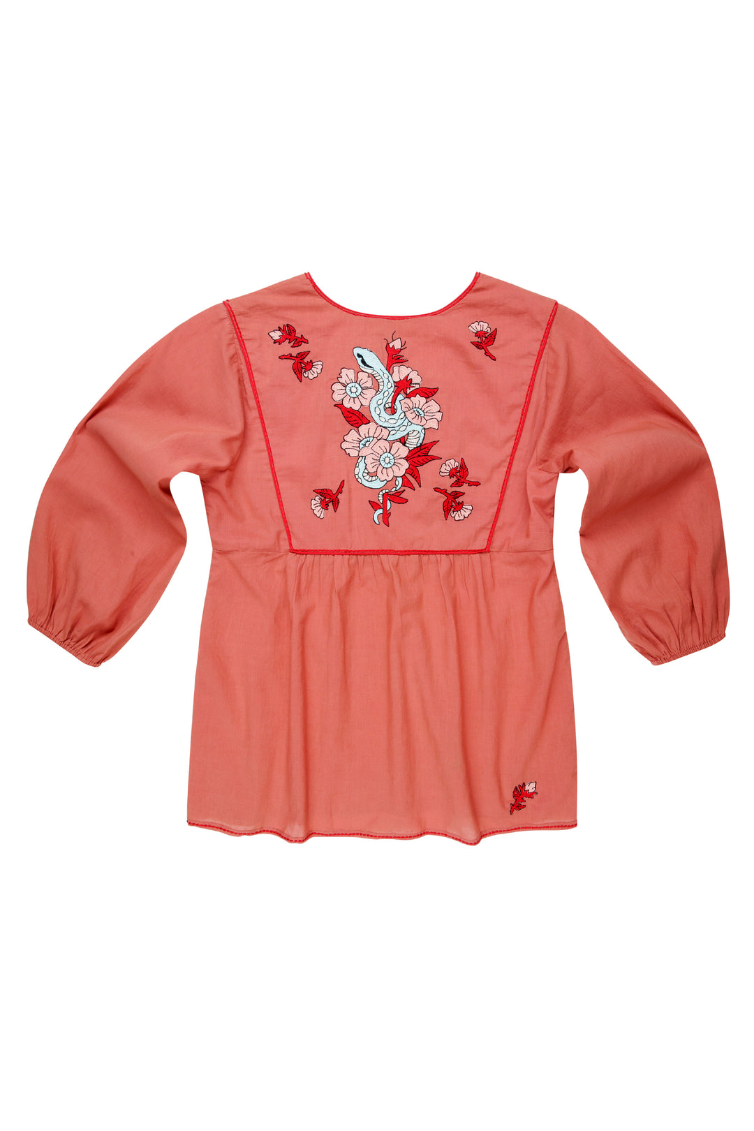 final sale: Tainted Love Embroidered Blouse Ochre