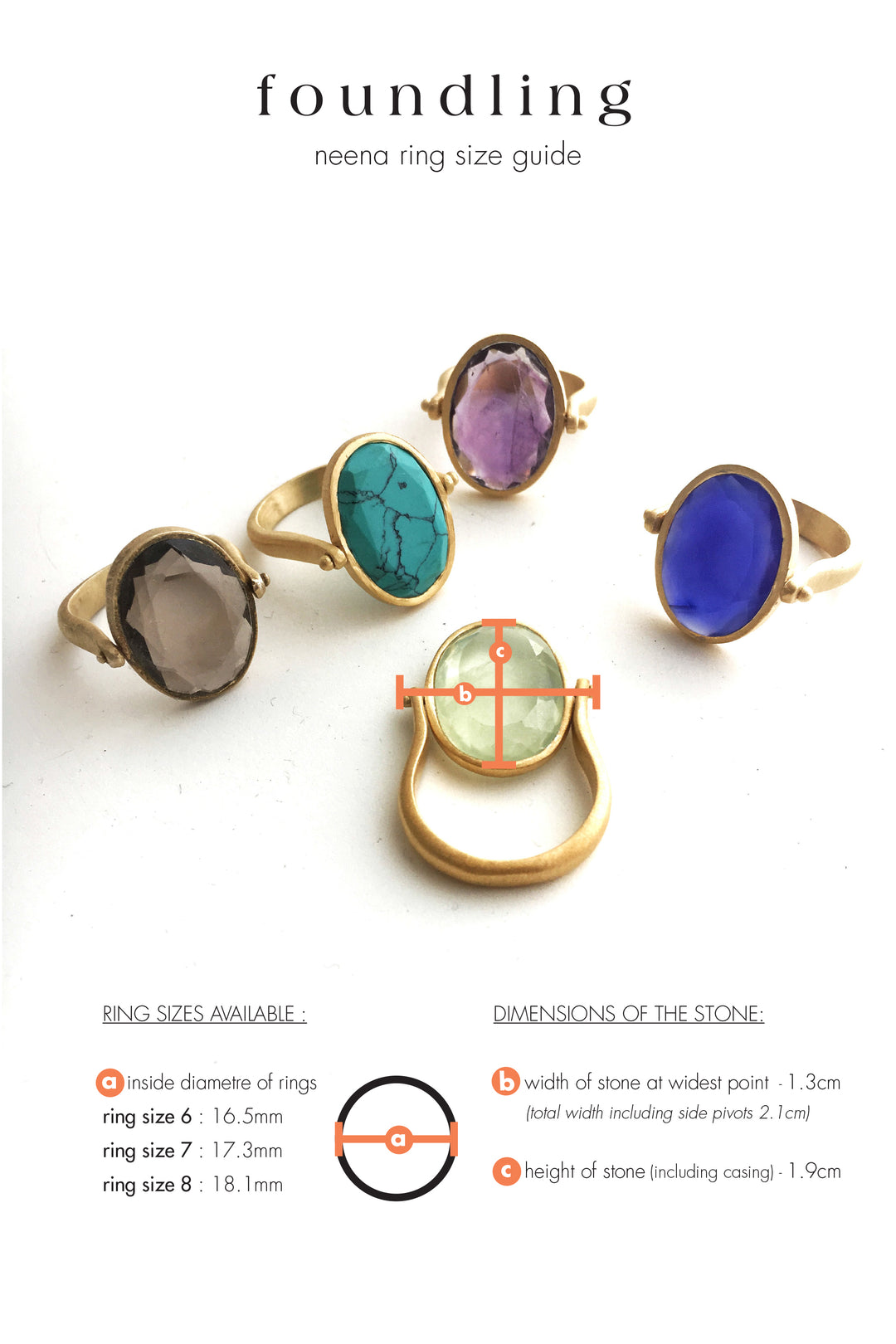 neena cocktail rings size guide