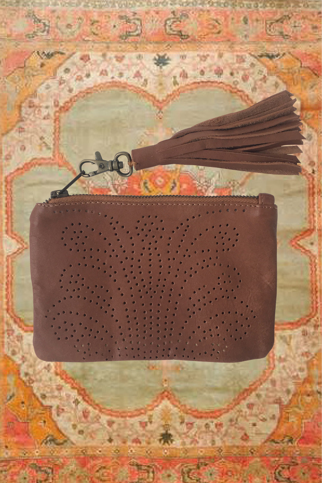 Sumitra tooled satchel mocha