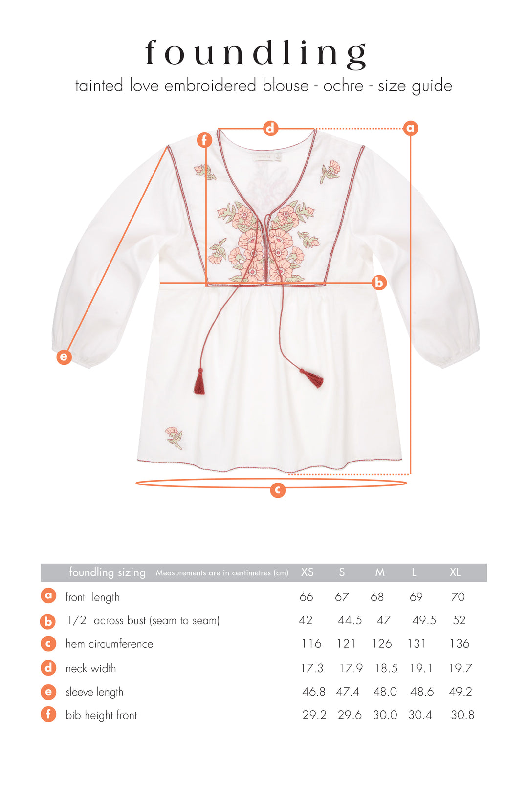final sale: Tainted Love Embroidered Blouse Ecru
