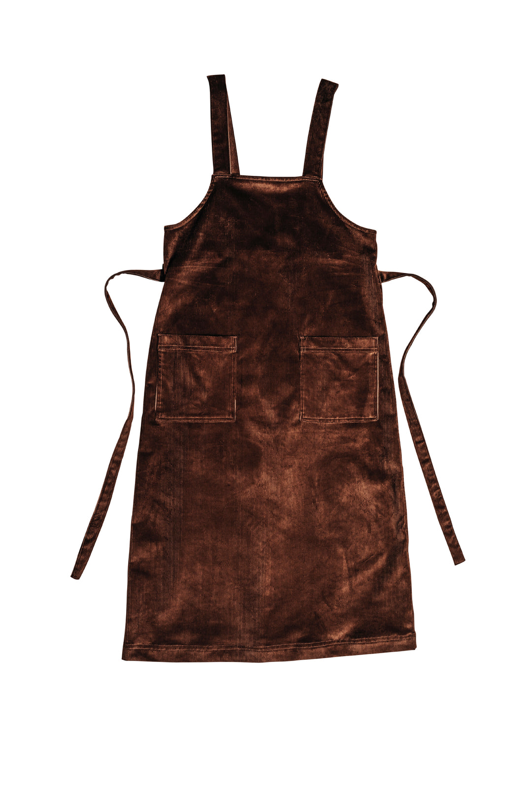 brown corduroy pinafore apron dress
