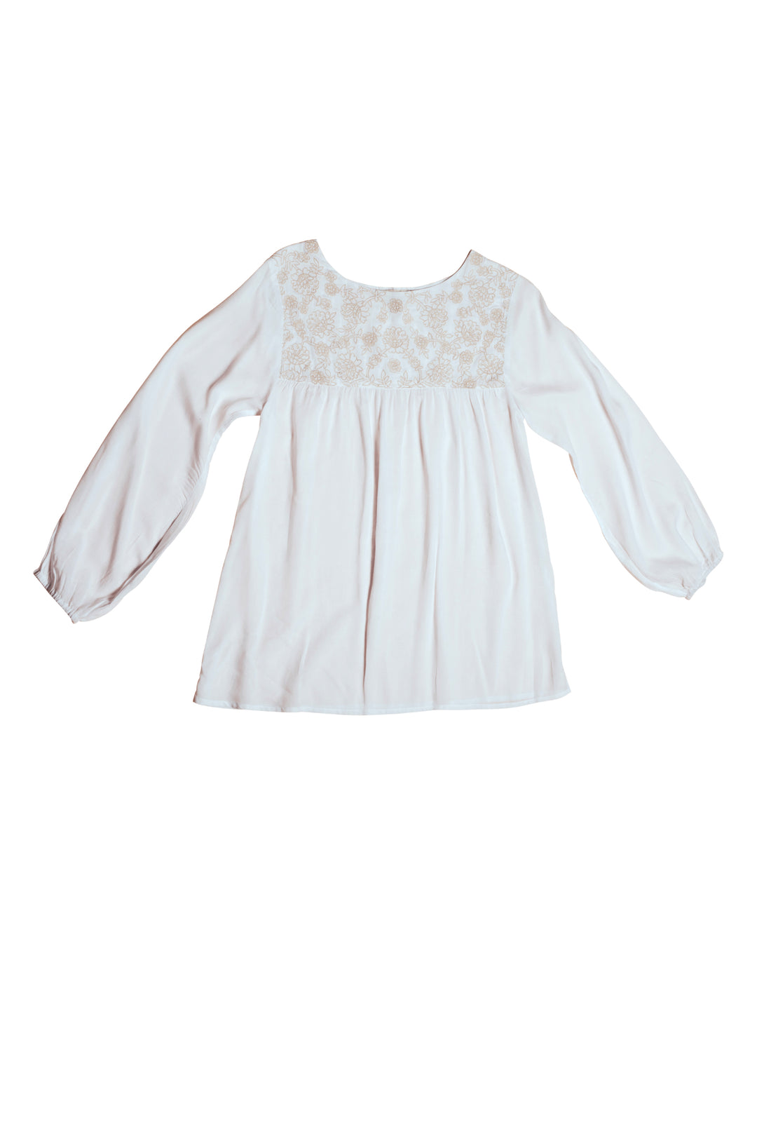 white embroidered artists smock