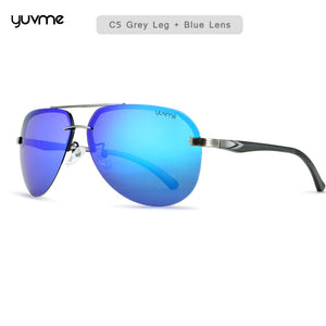 Yuvme Oval Shaped Polarized & UV Protected Driving Sunglasses