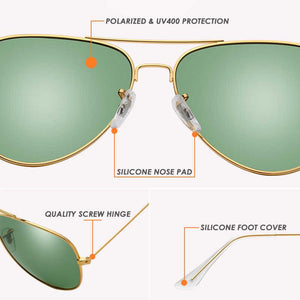 Air Force Pilot Sunglasses Polarized & UV Protected .