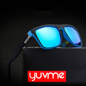 YUVME HD Polarized Sunglasses Blue Mirror Lens with 100% UV Protection