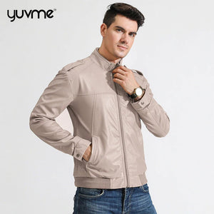 Yuvme Stylish Genuine Leather Jackets for Men