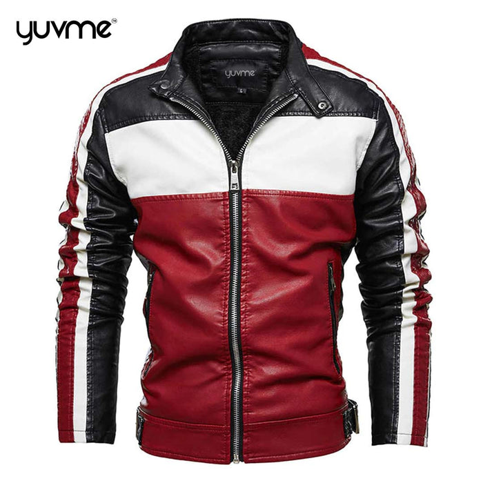 Yuvme Biker's Genuine Leather Jackets for Men