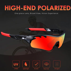YUVME Polarized Impact Protection Sports Sunglasses - Comfort & Performance