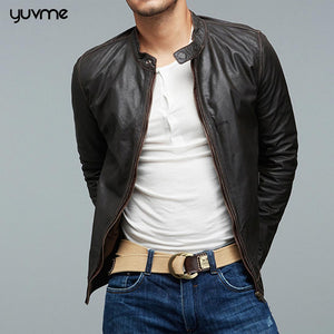 Slim Fit Genuine Leather Jackets for Men