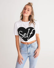 Load image into Gallery viewer, Self-Love Twist top Women's Twist-Front Cropped Tee