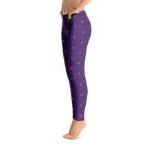 Load image into Gallery viewer, Love All Over Leggings Dark Purple