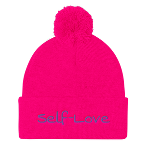 Self-Love Pom Pom Knit Cap