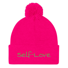 Load image into Gallery viewer, Self-Love Pom Pom Knit Cap