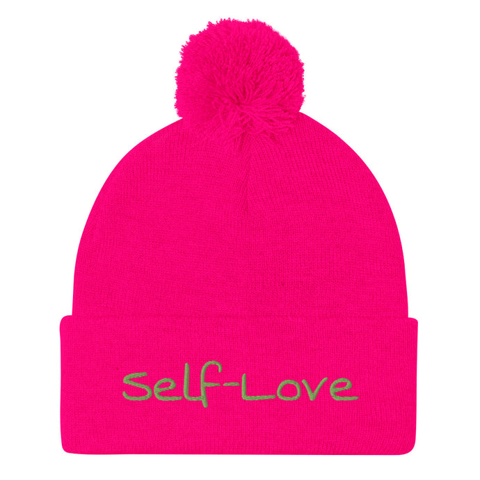 Self-Love Pom-Pom Beanie