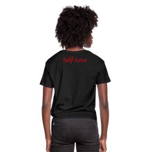 Load image into Gallery viewer, Women's Knotted T-Shirt - black