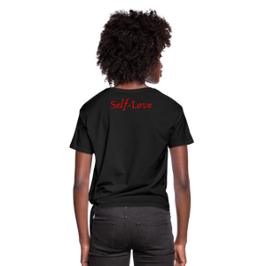 Women's Knotted T-Shirt - black